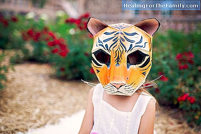 Tigermaske. Crafts Carnival