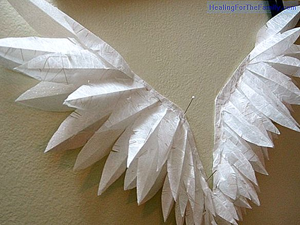 Christmas angel with cardboard plates. Christmas crafts