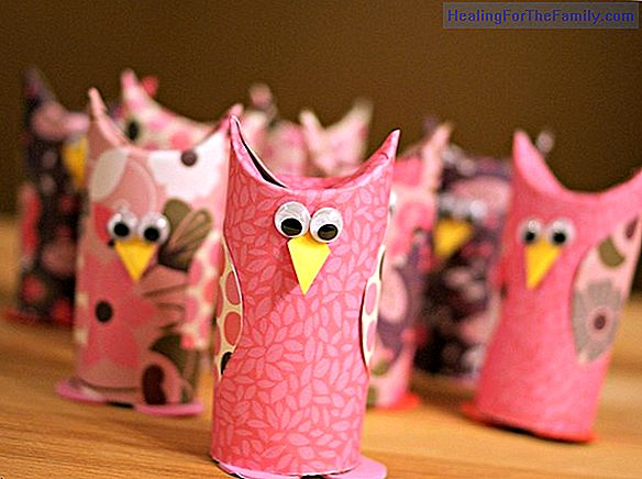 Christmas crafts for children with paper rolls