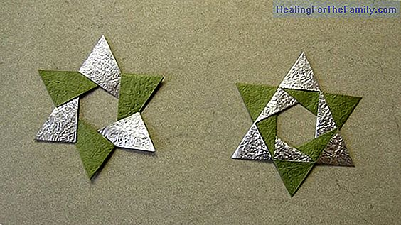 Christmas decorations in Origami for children