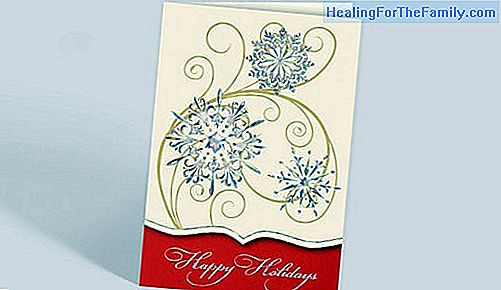 Christmas postcards. Greeting with tweezers