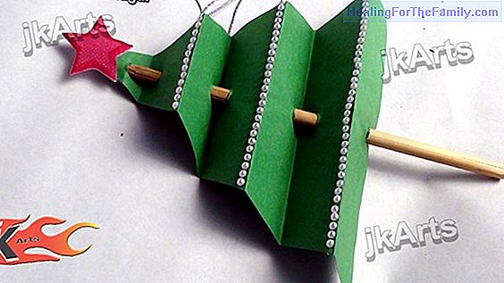 Crafts to make Christmas trees with children