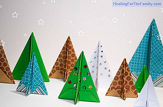How to make an origami Christmas tree. Origami for children