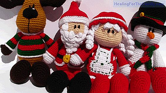 Postcard with Santa Claus clothes. Crafts with felt