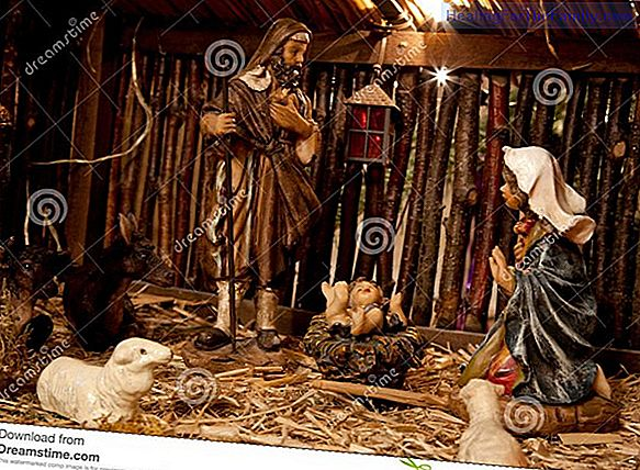 The straw of the manger. Christmas poem for children