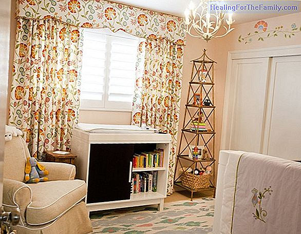 Decorate the baby's room. The curtains