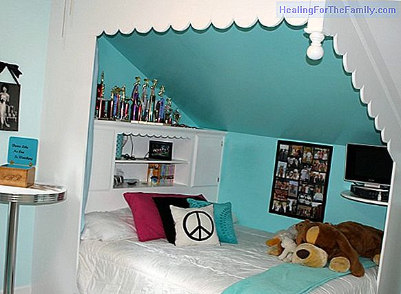 How to decorate children's bedrooms with sloping ceilings
