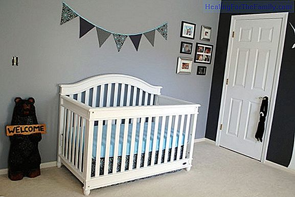 Ideas for decorating the wall of the baby's room