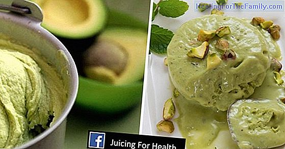 Avocado ice cream. Dessert or snack for children