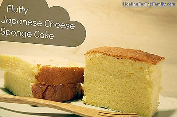 Japanese cheese cake with three ingredients