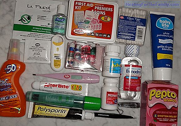First aid kit for traveling with children