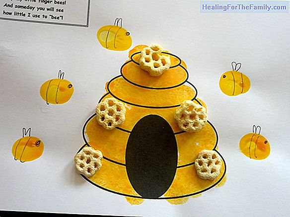 Bee hive. Crafts for children
