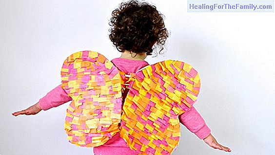 Butterfly wings. Costume crafts for children