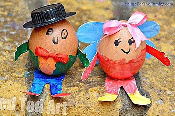 Children's crafts for decorating Easter eggs