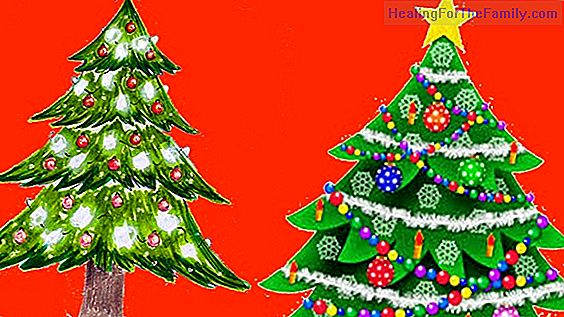 Coloring Christmas tree drawings