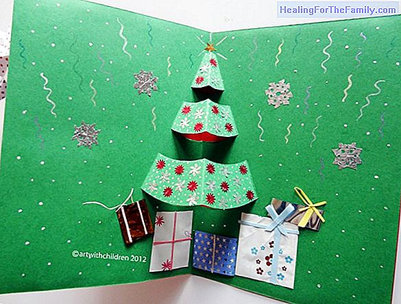 Christmas tree with stars. Children's craft