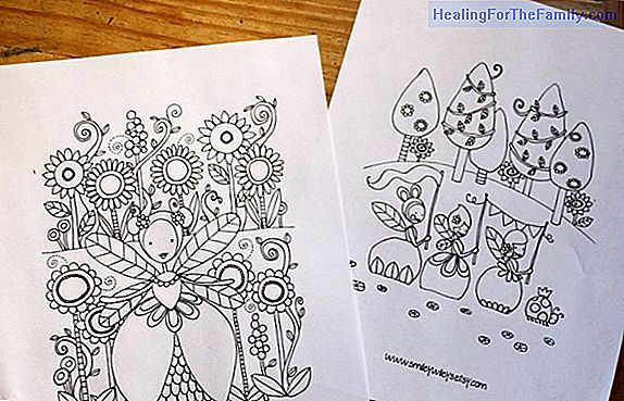 Coloring drawings with children from parties