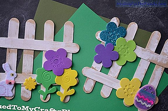 Crafts for children with ice cream sticks