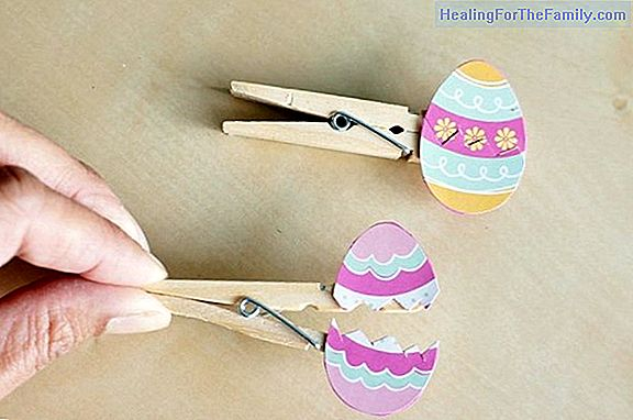 Crafts for children. Easter egg of plasticine