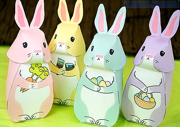 Easter crafts for children. Easter rabbit box