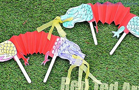 Fan with ice cream sticks. Children's crafts