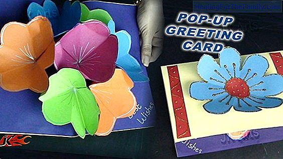 Flower card with photo. Craft for mom