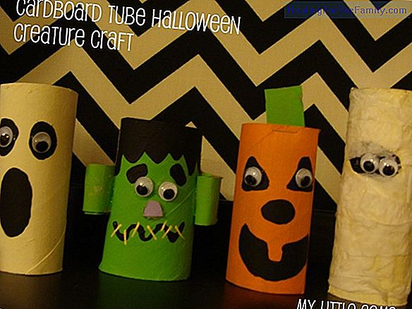 Halloween ghosts. Cardboard crafts for children
