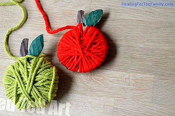 Wool heart. Crafts for children