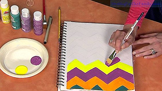 Home painting for children. Fun children's crafts