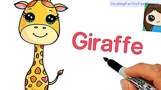 How to make a drawing of a giraffe step by step