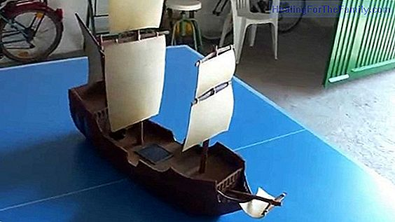 How to make a cardboard caravel Crafts for children