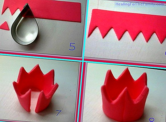 How to make a prince or princess crown step by step