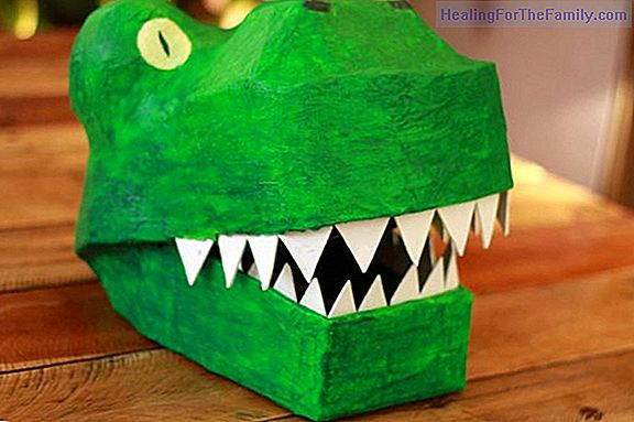 How to make, step by step, a dinosaur mask