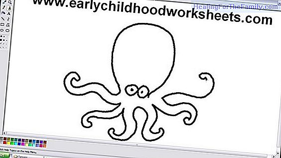 How to make, step by step, a drawing of an octopus