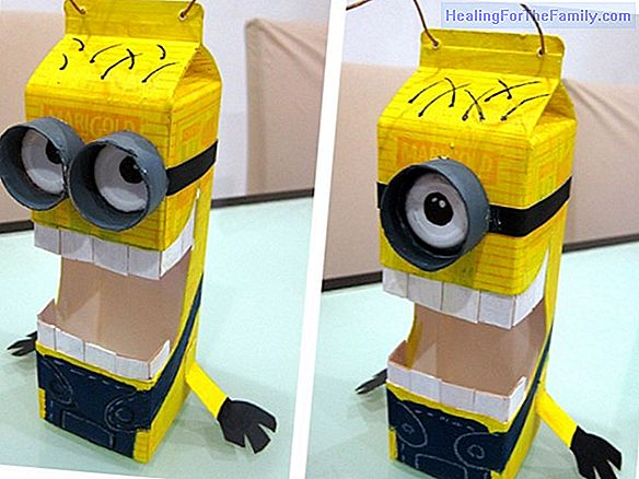 Minion costume. Crafts for children
