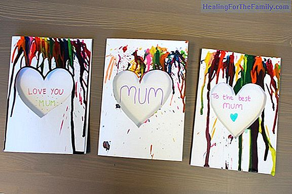 Mother's Day cards. Children's crafts