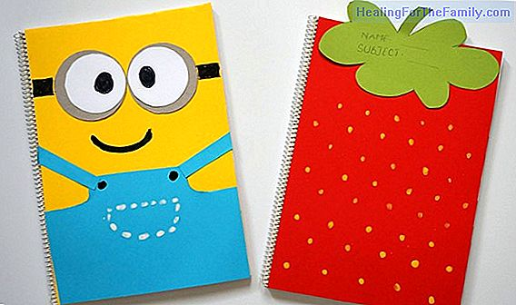 Notebook decorated with Minions. Crafts for the return to school