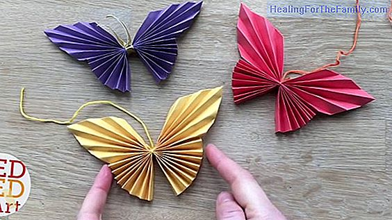 Origami butterflies. Crafts with paper