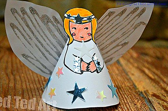 Paper angel. Crafts with templates