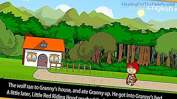 Story of Little Red Riding Hood in English for children
