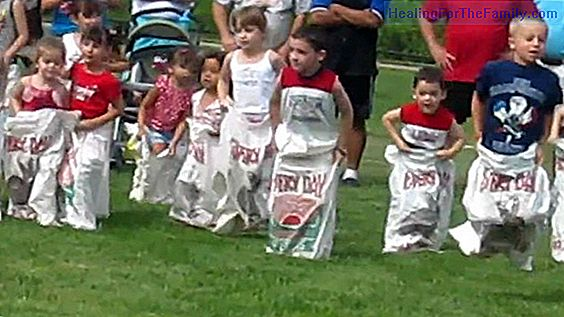Sack race. Games for children