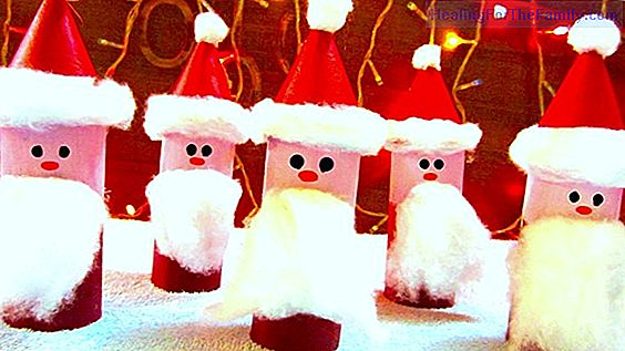 Santa Claus hat with felt. Christmas Crafts