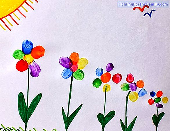 Spring. Children's drawings for coloring