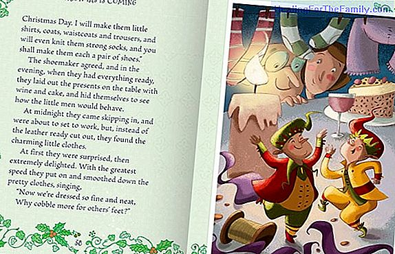 The shoemaker and the goblins. Christmas story for children