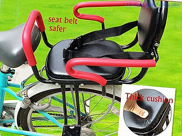 The safety of the baby in the bicycle seat