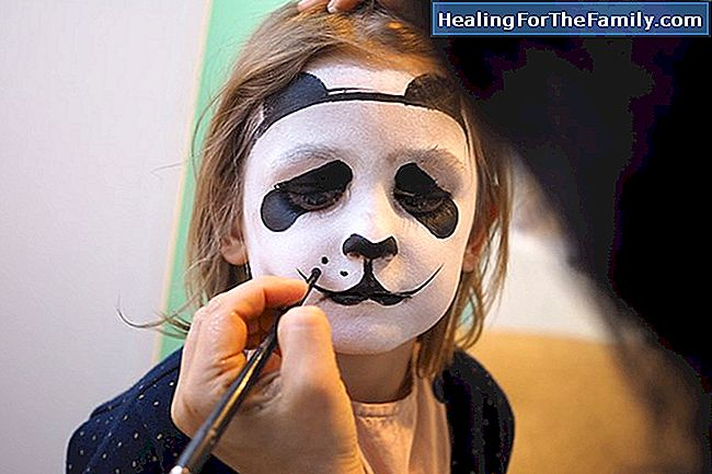 Enfants panda maquillage