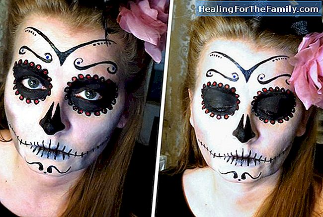 Catrina make-up. Halloween ambachten