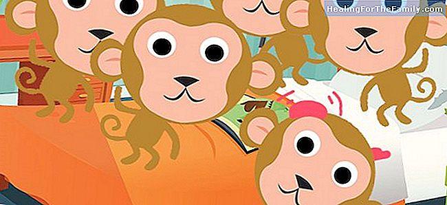 fem små apor text