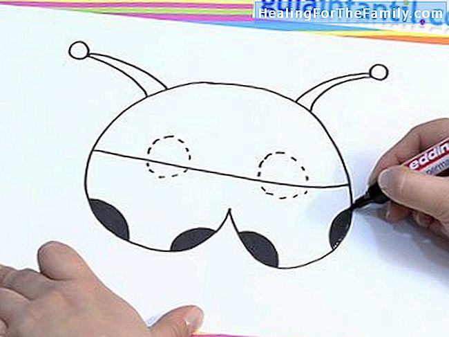 4dc3f4a3ff Pinte as antenas e desenhe o orifício onde a goma da máscara será colocada.