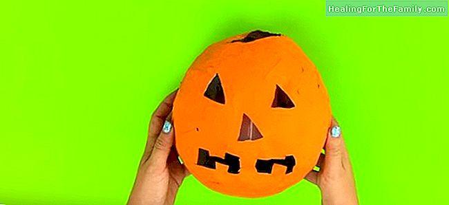 Hoe Maak Je Halloween Pompoenen.Pompoen Van Papier Mache Halloween Ambachten Familie 2017